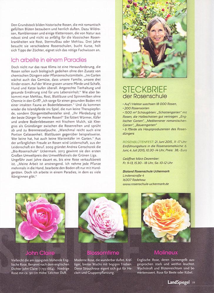 pressemeldungen bioland rosenschule uckermark. Black Bedroom Furniture Sets. Home Design Ideas